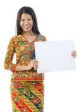 Asian woman holding placard Stock Photos
