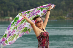 Asian woman holidays Royalty Free Stock Photos