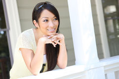 Asian Woman at home Royalty Free Stock Photography