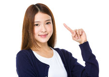 Asian woman with an idea Royalty Free Stock Photo