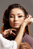 Asian Woman In A Beauty Salon. Royalty Free Stock Photo