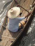 Asian Woman In Boat Royalty Free Stock Images