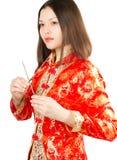 Asian Woman In Kimono Stock Photography