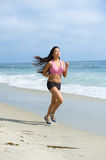 Asian woman jogging Stock Photography