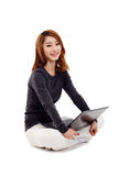 Asian woman with laptop Stock Photos