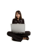 Asian woman and laptop Stock Photos
