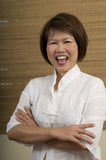 Asian woman laughing Royalty Free Stock Photo