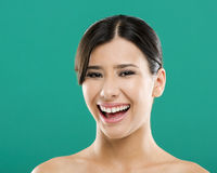 Asian woman laughing Royalty Free Stock Photography