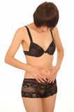 Asian woman in lingerie Royalty Free Stock Images