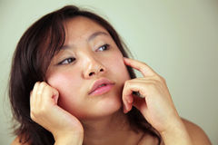 Asian woman looking away Royalty Free Stock Images