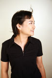 Asian woman looking away Stock Photo