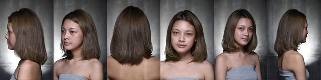 Asian Woman before make up hair style. no retouch, fresh face Royalty Free Stock Photography