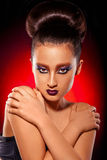 Asian woman with make up and hairstyle Royalty Free Stock Photo
