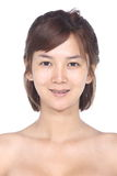 Asian Woman before make up. no retouch, fresh face with acne, sk Stock Images