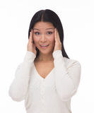 Asian woman with migraine Royalty Free Stock Photo