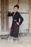 Asian woman in national costume, Laos Royalty Free Stock Photo