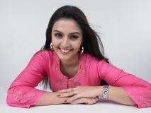Asian Woman Of Indian Origin Stock Photo