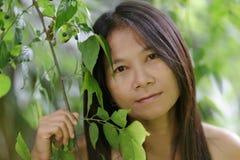 Asian woman outdoor portrait Stock Photos