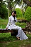 Asian woman in park