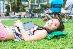 Asian Woman at Park Royalty Free Stock Photo