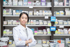 Asian woman a pharmacist Stock Photo