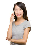 Asian woman on phone call Stock Photo