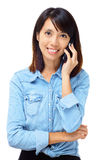 Asian woman with phone call Royalty Free Stock Image