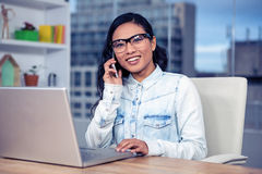 Asian woman on a phone call Royalty Free Stock Photo