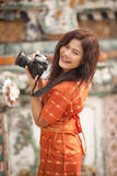 Asian woman photographer Stock Image