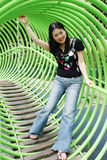 Asian woman playing Royalty Free Stock Images