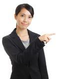 Asian woman pointing Stock Photos