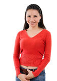 Asian woman portrait in casual Royalty Free Stock Photography