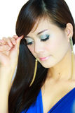 Asian woman portrait face Stock Photos