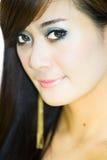 Asian woman portrait face. Closeup Stock Photography