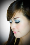 Asian woman portrait face. Closeup Stock Photos