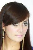 Asian Woman Portrait. Face closeup Royalty Free Stock Photography