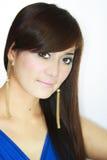 Asian Woman portrait. Face closeup Stock Image
