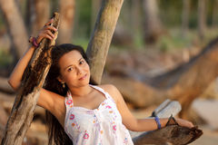 Asian woman posing Royalty Free Stock Images