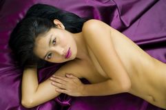 Asian woman posing nude Stock Images