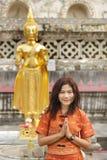 Asian woman praying Royalty Free Stock Images