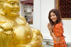 Asian woman praying Stock Images