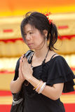 Asian woman praying Stock Image