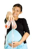 Asian woman and pregnancy excitement Stock Image