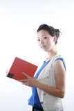 Asian woman reading book Stock Images