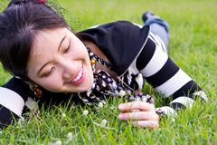 Asian woman relaxed Stock Photos