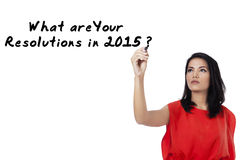 Asian woman and resolution question Stock Photo