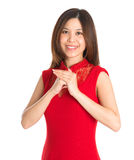 Asian woman respecting on Chinese New Year Festival. Stock Photography