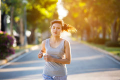 Asian woman running Stock Photos