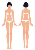 Asian woman's body template Stock Photography