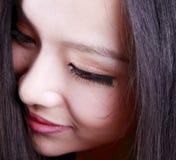 Asian woman's face. Close-up of Asian woman's face Stock Photos